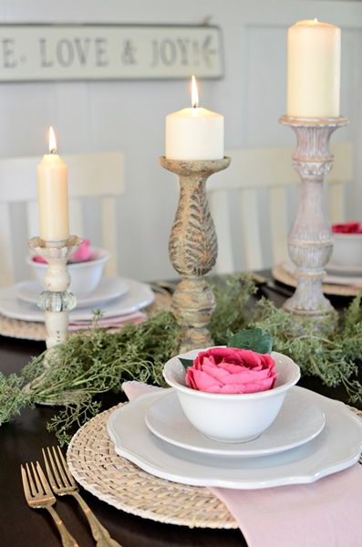Town and Country Living Table Setting