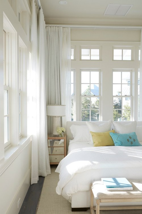 Beach House Bedroom with Walls of Windows