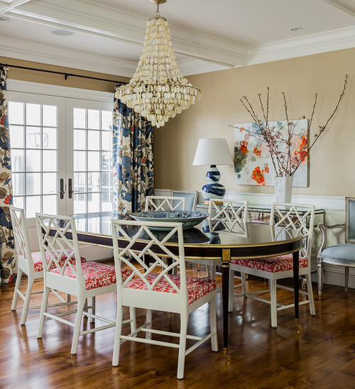 Coastal Dining Room with Asia Influence