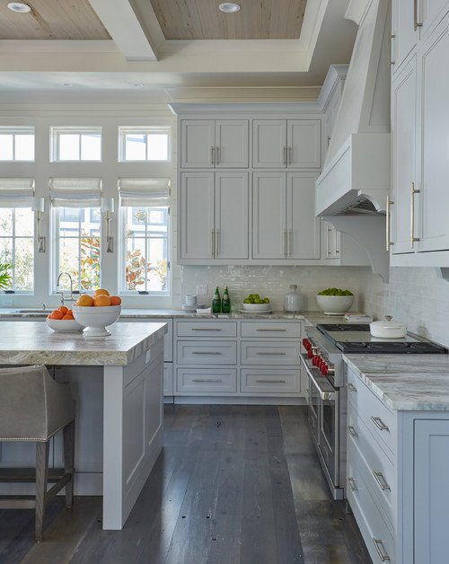 Beach House Kitchen in Wood and White