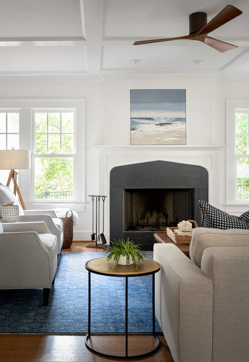Modern Country Living Room in Coastal Style