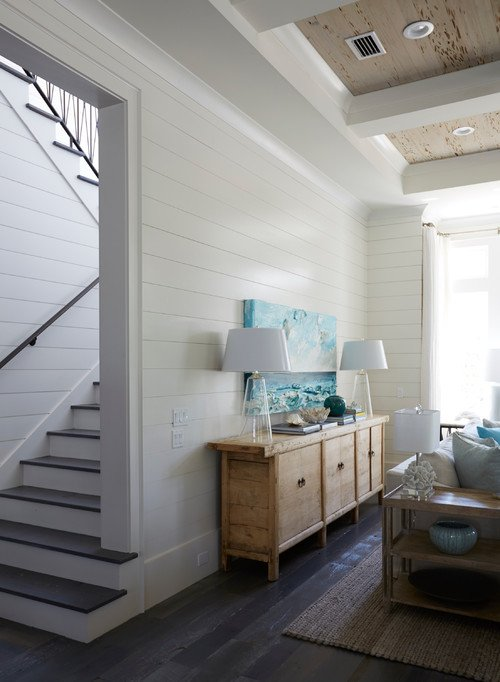 Coastal Style Two-Toned Stairway