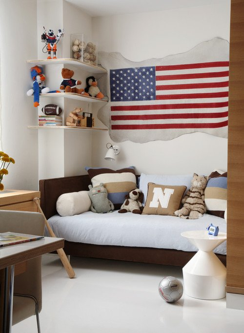American Flag in Child's Bedroom