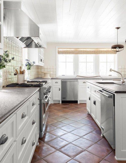 Spanish Style Kitchen with Terra Cotta Floor