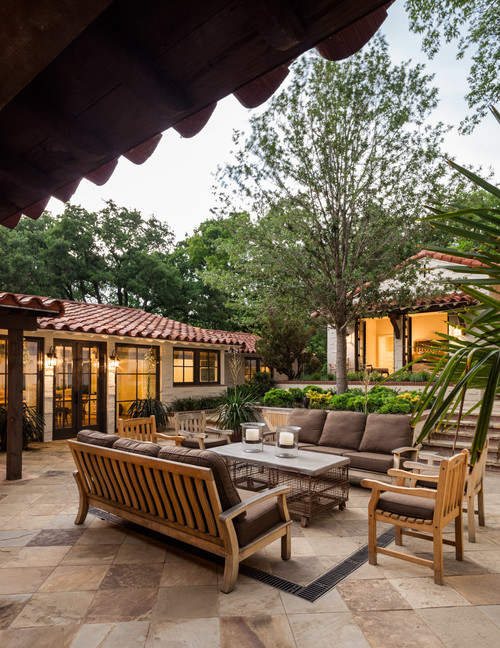 Spanish Style Patio in Dallas Texas