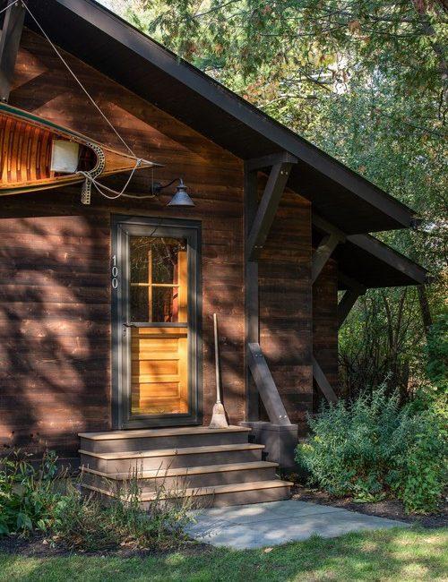 Rustic Lake Cabin Exterior