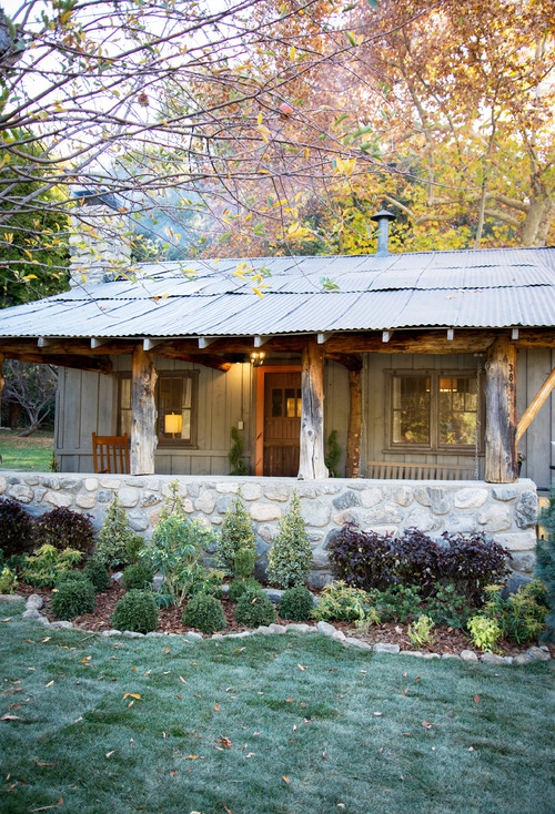 Rustic Woodsy Cabin Exterior