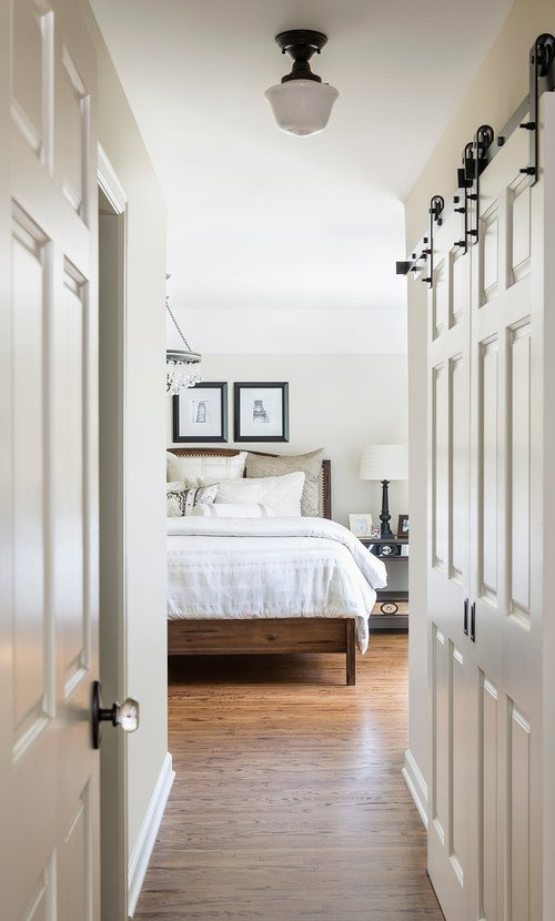 Fixer Upper Style Bedroom in Black and White
