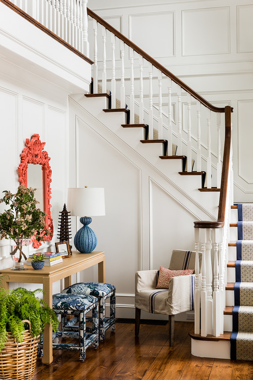 Victorian Style Staircase in Coastal Living Home