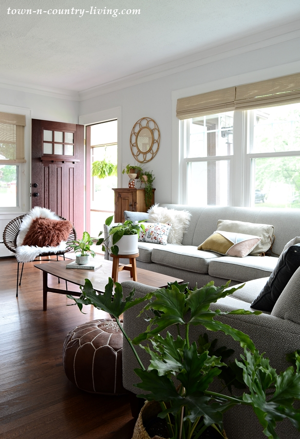 Plant-Filled Boho Chic Living Room