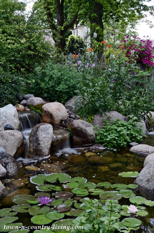 Backyard Garden Pond with Waterfall