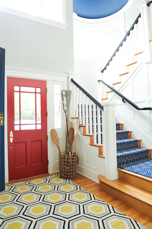 Beach Style Entryway in Bright Colors
