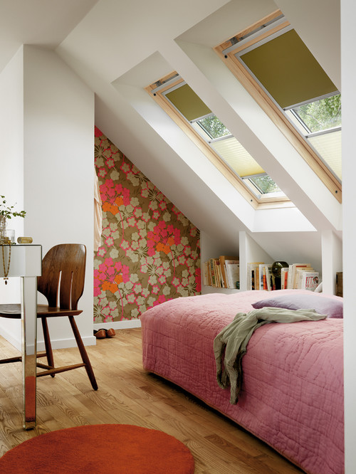 Charming Under-the-Eaves Bedroom with Skylight