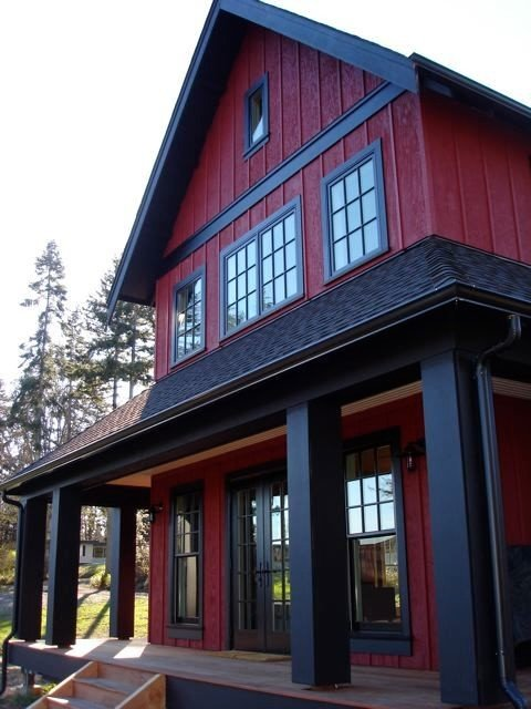 Two Story Red Farmhouse