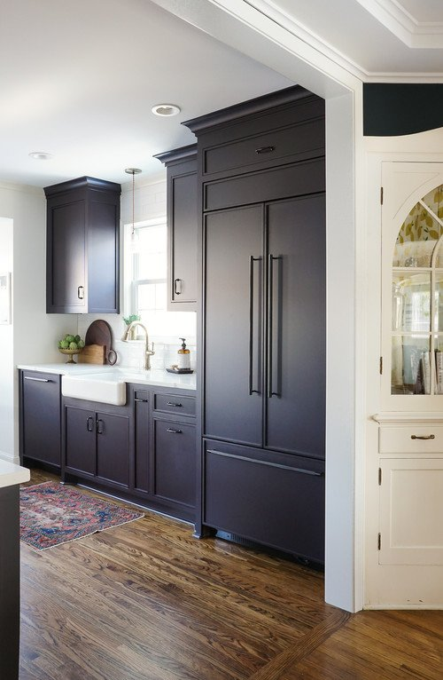 Dark Painted Cabinets in an Updated Kitchen