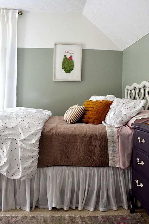 Eclectic Girls Bedroom in Lake Cottage