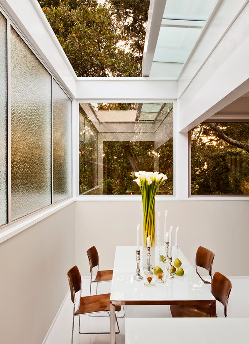Mid Century Dining Room with Expansive Windows