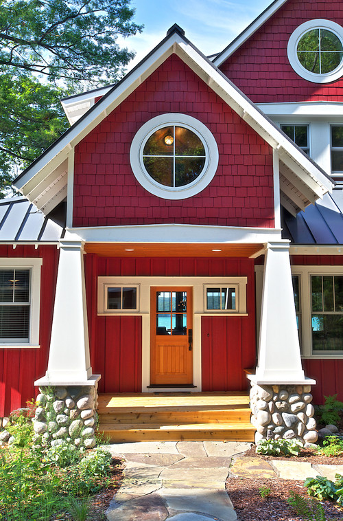Craftsman Style Red House