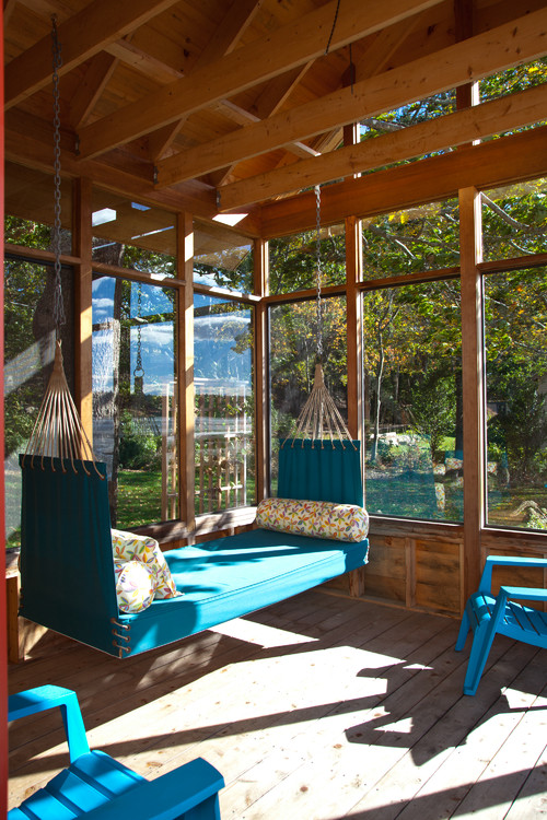 Swing on Enclosed Porch