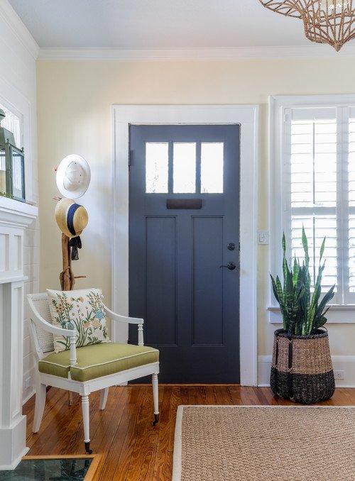 Blue Door Creates Inviting Entryway