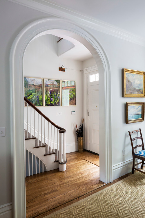 Arched Doorway in Historic Home