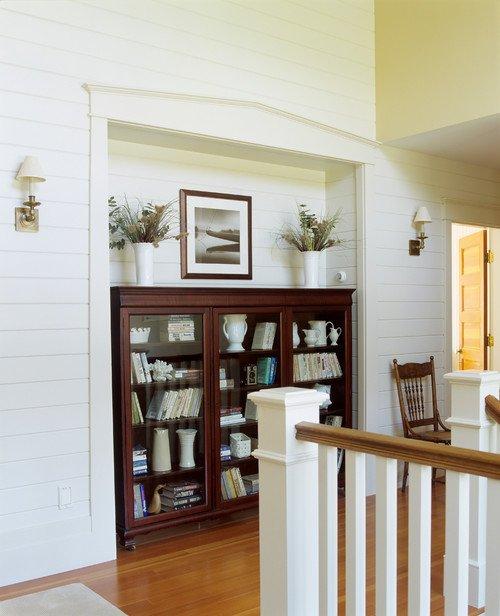Traditional Hallway in Coastal Home