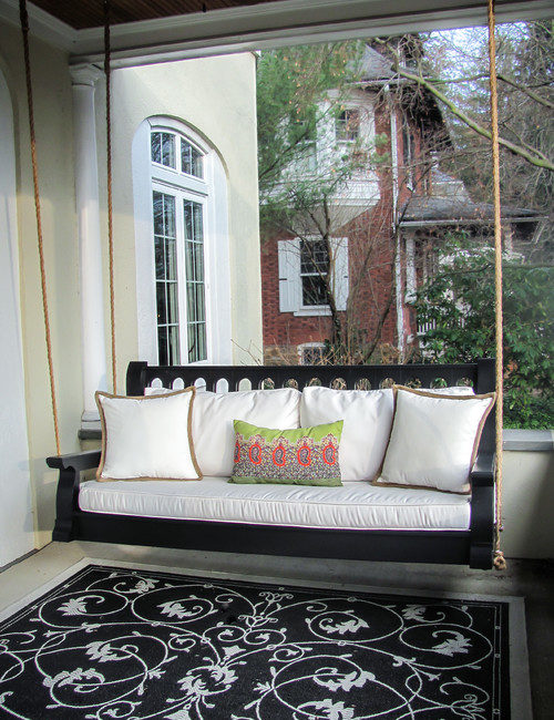 Black Front Porch Swing