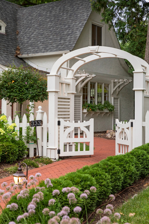 Cottage Garden with Arched Arbor