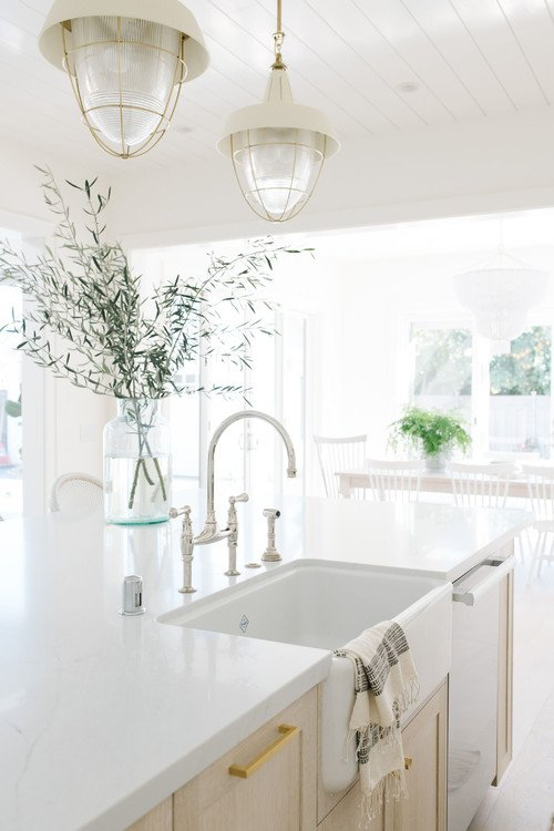 White Transitional Kitchen in San Francisco