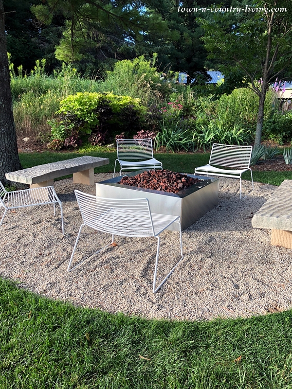 Pea Gravel Patio with Fire Pit