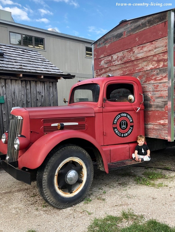 Red Food Truck in Door County