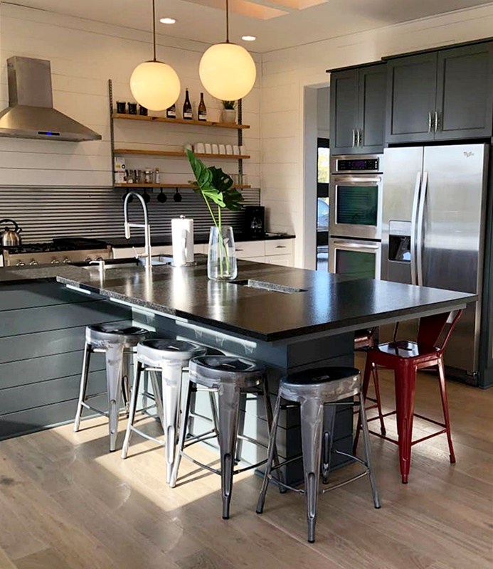 Industrial Style Kitchen in Modern Farmhouse