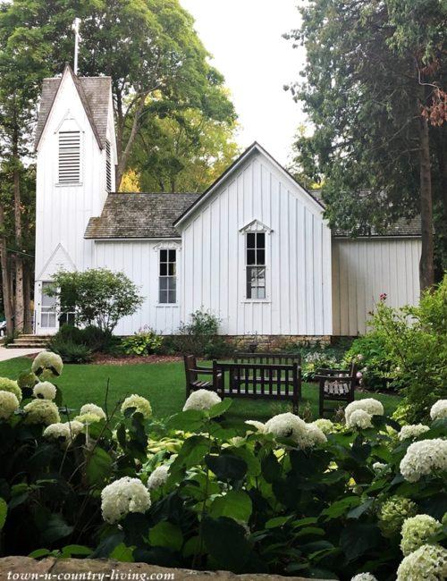 White Church and Limelight Hydrangeas