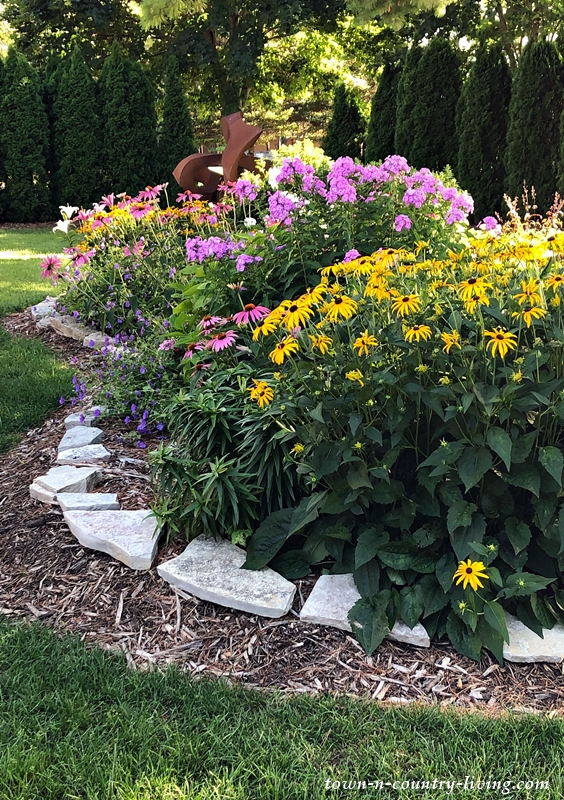 Beautiful Gardens at Stone's Throw Winery in Door County, Wisconsin
