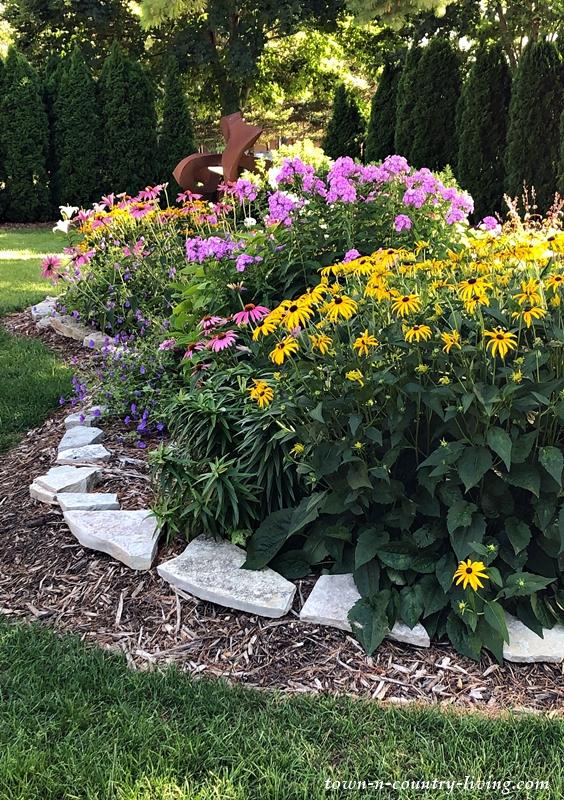 Beautiful Gardens at Stone's Throw Winery in Door County, Wisconsin