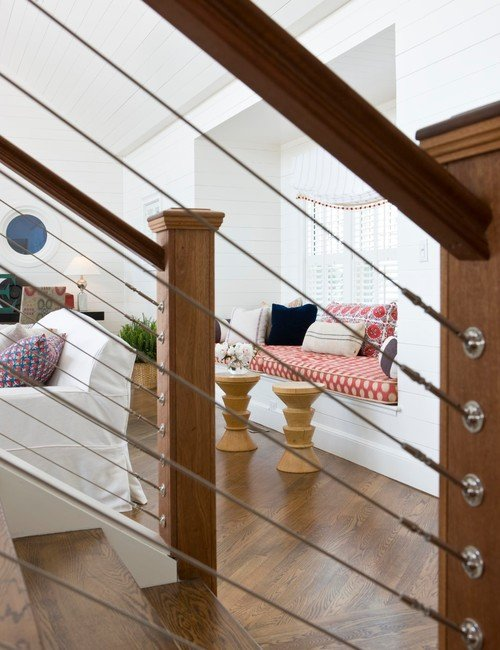 Wood and Cable Wire Staircase