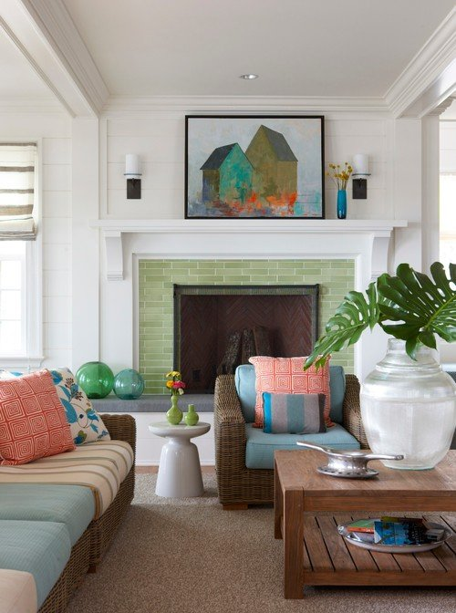 Colorful Transitional Dining Room