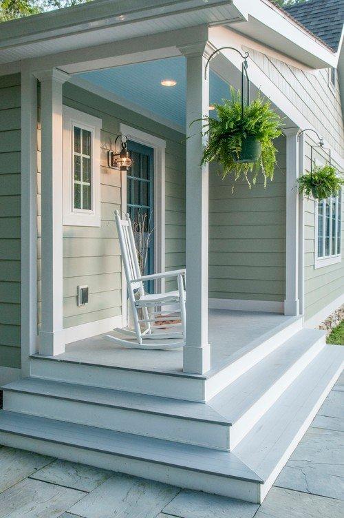 Simple Farmhouse Porch with Boston Fern