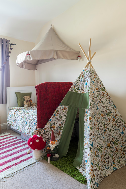 Kids Bedroom with Play Tent