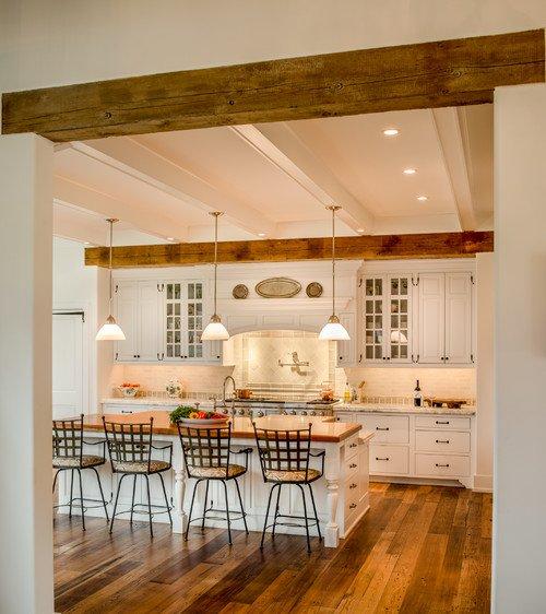 Farmhouse Kitchen with Wood Beams