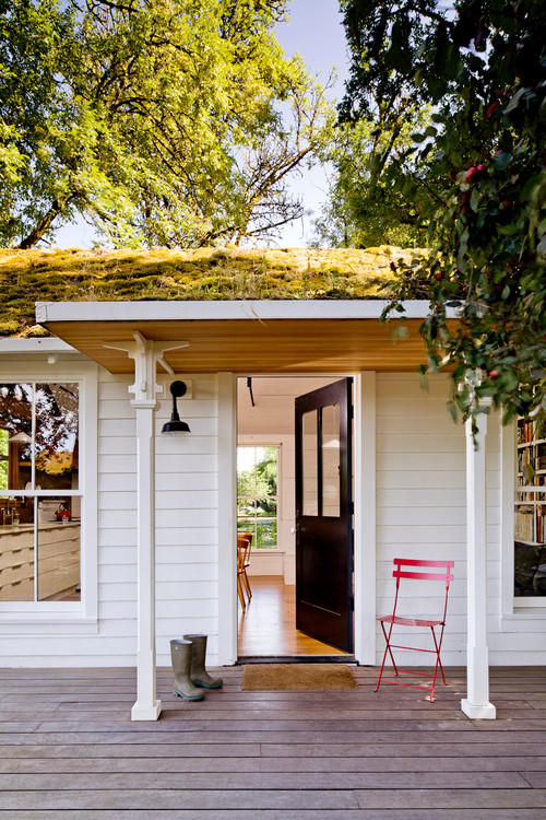 Front Porch with Green Roof