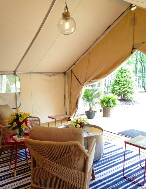 Take a Peek Inside a Glamping Tent