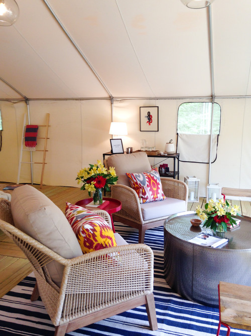 Living Area in a Glamping Tent