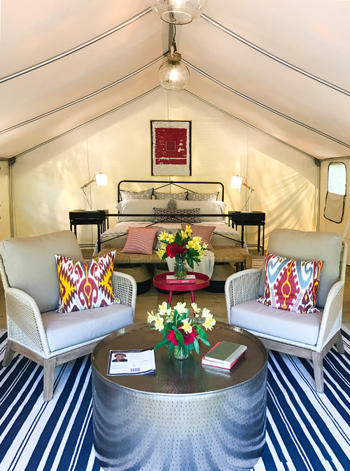 Glamorous Tent for Enjoying the Outdoors in Luxury