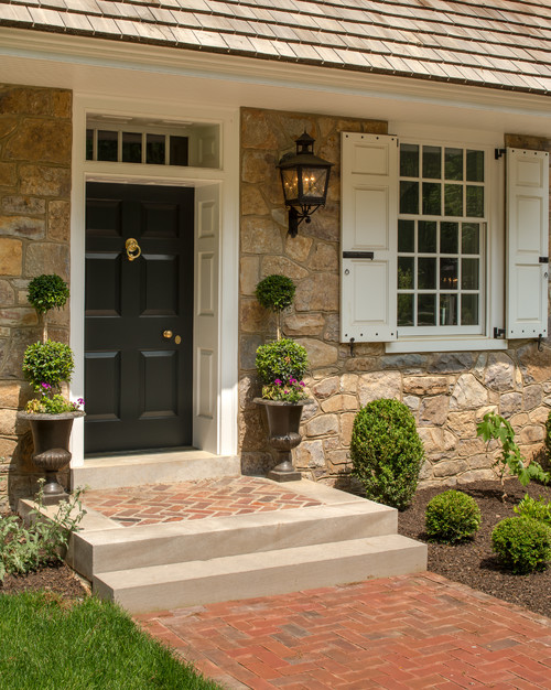 Front Door to Traditional New Construction Home