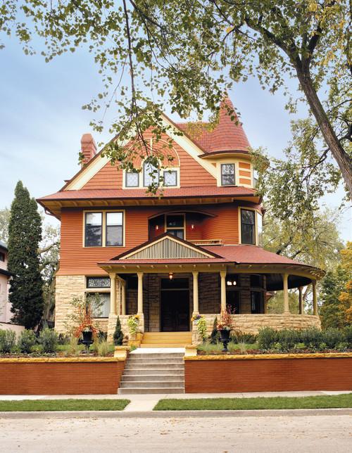 Victorian Home Exteriors - orange historic house