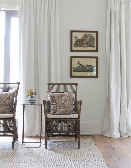 Rattan Chairs in Traditional Living Room