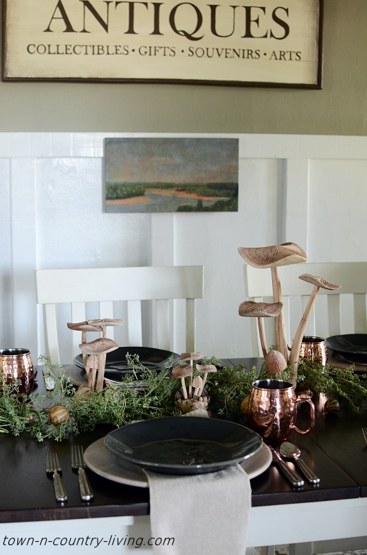 Nature Inspired Table Setting