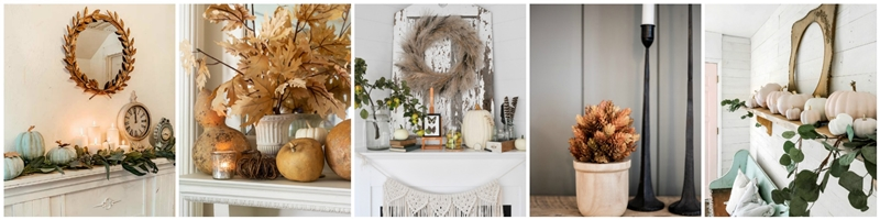 Seasonal Simplicity Fall Mantel