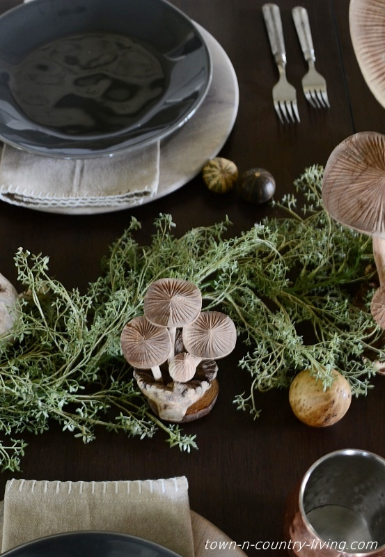 Earth Inspired Fall Table Setting